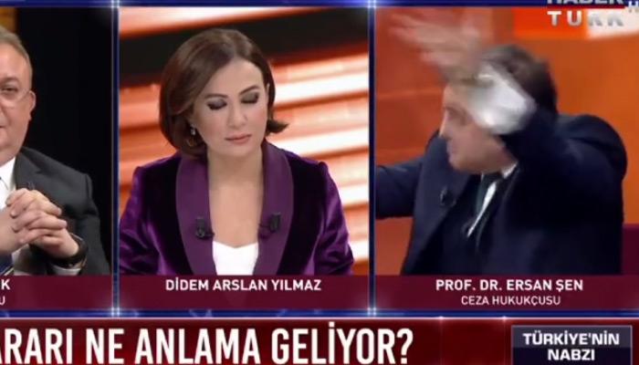 Hukukçu Ersan Şen'in canlı yayında çıldırması