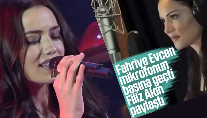 Fahriye Evcen ve Fransızca aşk şarkısı