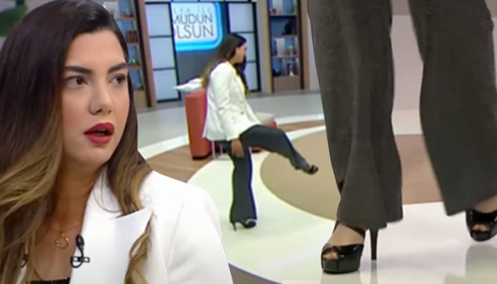 Fulya Öztürk'ün canlı yayındaki topuklu ayakkabı isyanı!